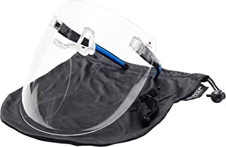 X Shield: 3/4 Face Non-Vented Clear Face Shield Worn Like Glasses - Use With Hats, Caps and Helmets