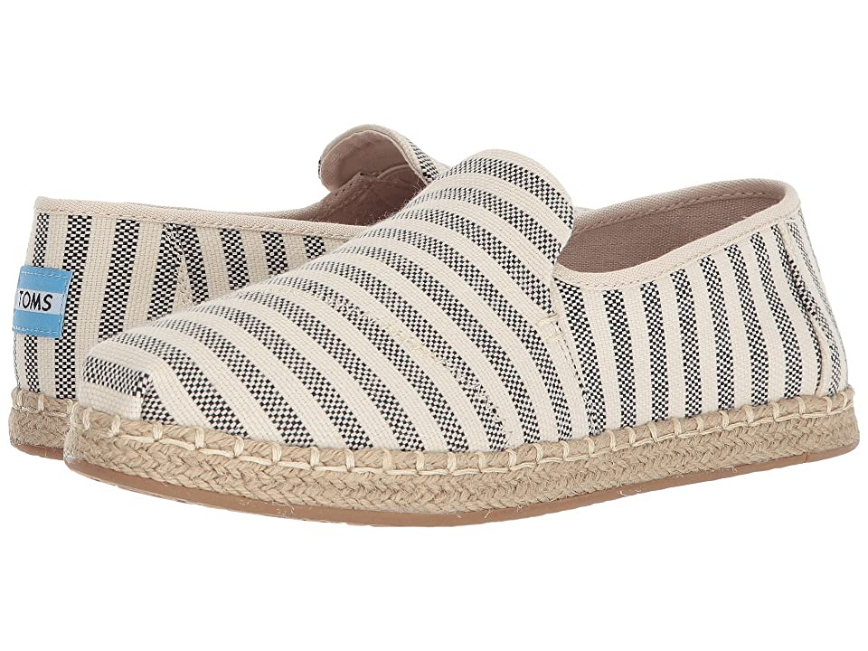 TOMS Deconstructed Alpargata Rope (Black Woven Stripe) Women