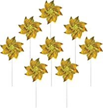 In the Breeze 2708 Sparkling Mylar Pinwheel Decorative Spinner-8 Piece Bag, Gold