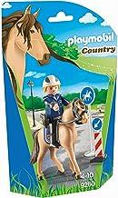 Playmobil- Policier avec Cheval, 9260