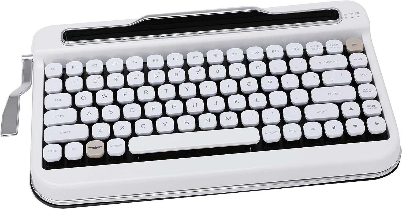 Penna Bluetooth Keyboard with Diamond Keycap(US Language) (Switch-Cherry Mx Blue, Pure White)