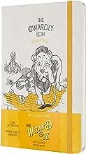 Moleskine - Cuaderno Edición Limitada El Mago de Oz, Cuaderno Temático del León Cobarde, Hojas Lisas, Tapa Dura de Tela, Tamaño Grande 13 x 21 cm, Color Amarillo, 240 Páginas