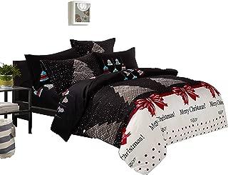 Swanson Beddings Christmas 3-Piece Microfiber Bedding Set: Duvet Cover and Pillow Shams (King)
