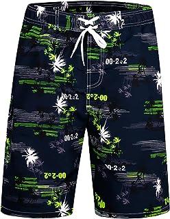 923b00d793 APTRO Men's Swim Trunks Beach Shorts Swimwear Pants Bathing Suits High  Waisted Quick Dry Palm Printed