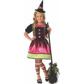 Halloween - Disfraz de Bruja vampiresa para niña, color rosa - 3-4 ...