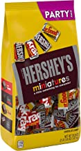 HERSHEY'S Miniatures Assorted Chocolate Candy, Halloween Candy, 35.9 oz Party Bag