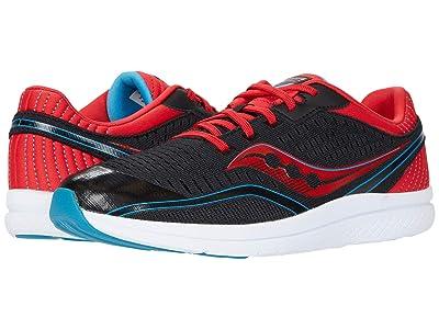 Saucony Kids S-Kinvara 11 (Little Kid/Big Kid) (Black/Red/Blue) Boys Shoes