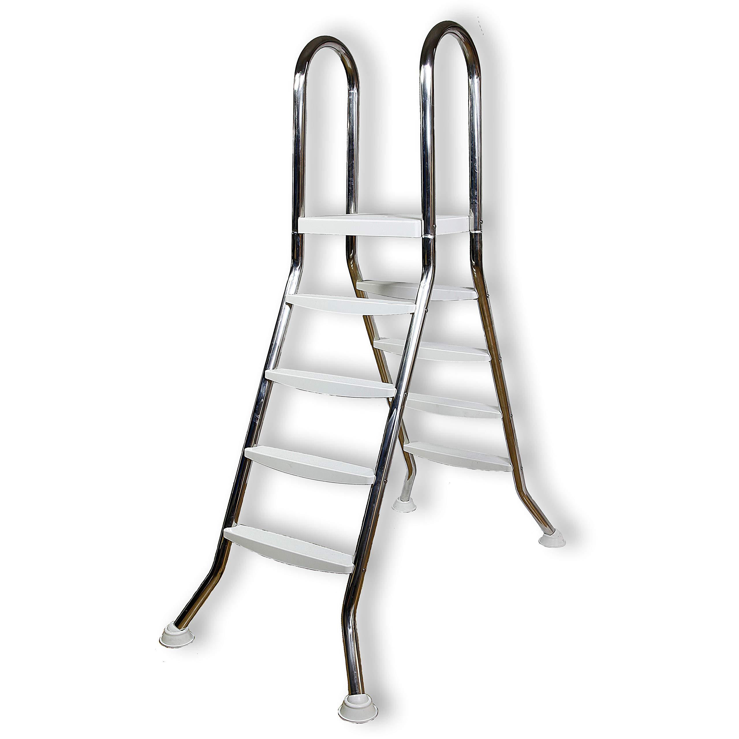 Unbekannt Escalera de Acero Inoxidable para Piscinas de hasta 1,2 m de Altura (L32): Amazon.es: Jardín