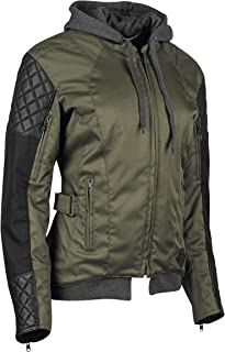 Speed & Strength Women's Double Take Textile Jacket (Medium) (Olive/Black)