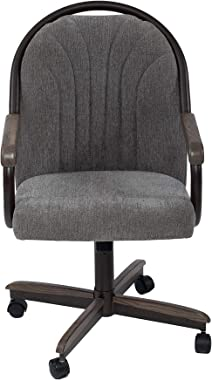 AW Furniture Casual Dining Cushion and Rolling Tilt Chair