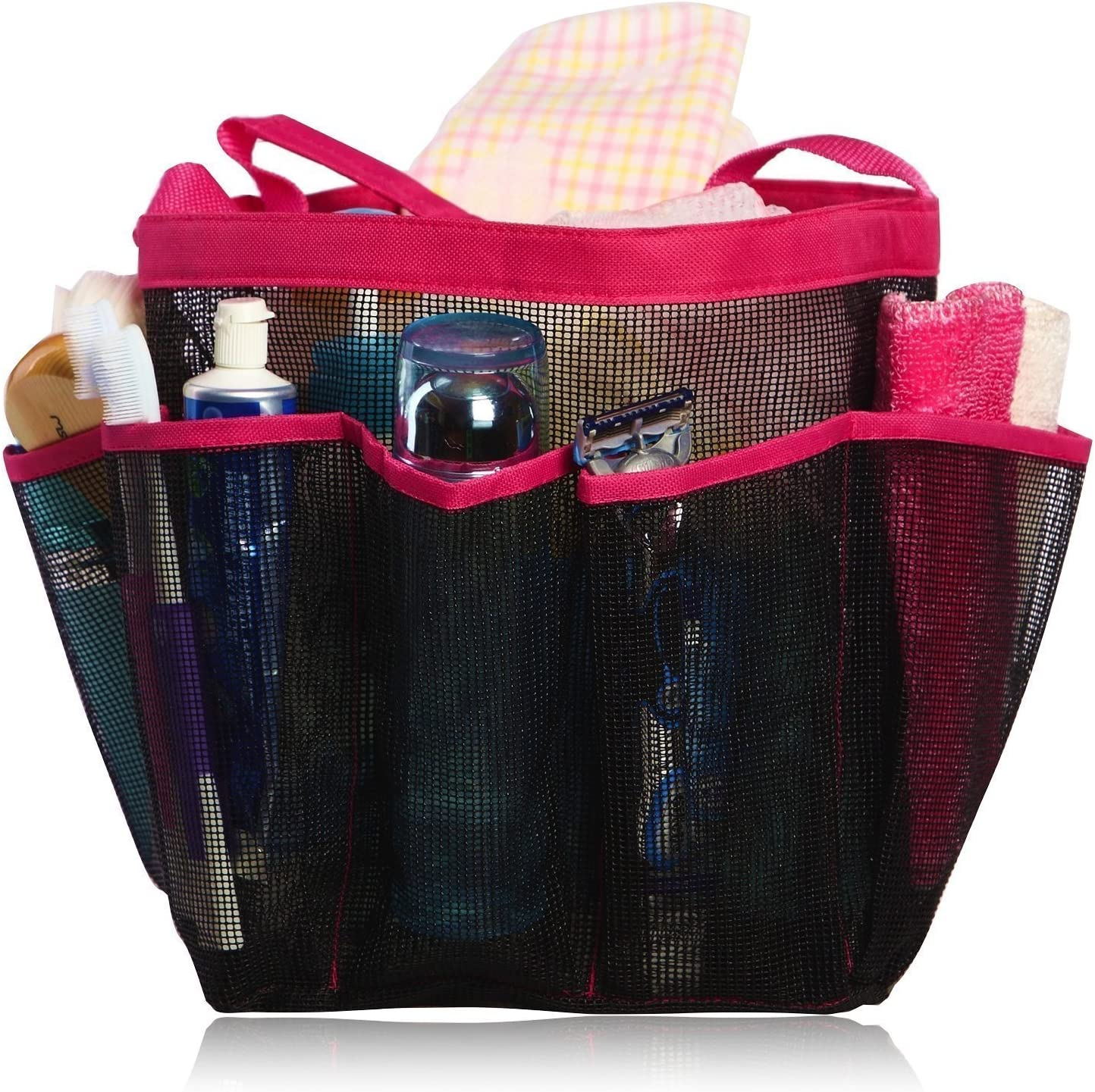 eoocvt Mesh Shower Caddy 8 Pockets Dry T San Jose Mall Quick Toiletry Hanging safety
