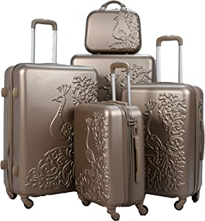 Luggage Trolley Set, 5 Pcs - Gold