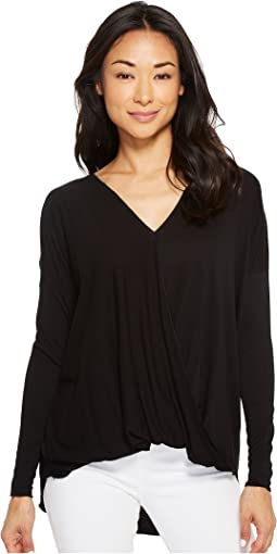 American Rose Nora Cross-Front Long Sleeve Top
