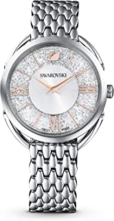 SWAROVSKI Women's Crystalline Glam Rose Gold Quartz Watch with Metal Strap, White, 3 (Model: 5452465)