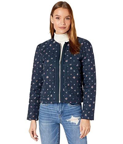 Blank NYC Collarless Floral Quilted Jacket (Flower Girl) Women