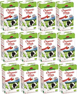Black Forest Milk 100% Organic Low Fat Cow Milk, 1 Litre x 12