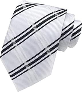 Secdtie Men's Modern Tartan Checks Plaid Style Formal Ties Woven Pattern Necktie