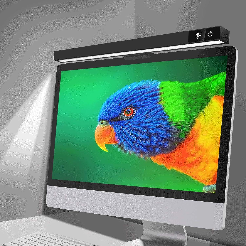 Computer Monitor Light Bar, Screen Light Bar E-Reading LED Task Lamp, USB Powered Screenbar Light for Home Office, 3 Adjustable Color Temperature & Dimming Brightness Levels, No Screen Glare