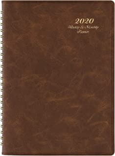 2020 Planner - Weekly & Monthly Planner with Tabs, 6.5
