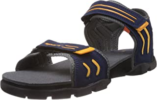 Sparx Men's Navy Blue and Grey Athletic & Outdoor Sandals - 8 UK(SS-106)