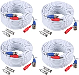 ANNKE 4pcs Cables 30m/100 pies de BNC y de DC Fuente Sistema de seguridad Conector Video (pack of 4)