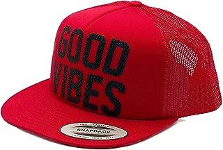 94-15 Good Vibes Inspirational Cute Glitter Foam Trucker Hat
