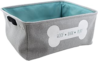 Winifred & Lily Pet Toy and Accessory Storage Bin, Organizer Storage Basket for Pet Toys, Blankets, Leashes and Food in em...