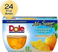 DOLE FRUIT BOWLS No Sugar Added Mandarin Oranges, 4 Cups (6 Pack)