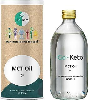 Go-Keto MCT Oil C8, 500 ml   Premium MCT OLIE C8, 100% palmolievrije kokosolie   perfect voor het keto-dieet   ideale voor...