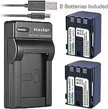 Kastar Battery (X2) & Slim USB Charger for Canon BP-2L12 BP-2L14 BP-2L15 BP-2L24H BP-2L5 NB-2L12 NB-2L14 NB-2L and DC310 DC330 Elura 60 Vixia HV20 Vixia HV30 ZR100 ZR200 ZR300 ZR500 ZR600 ZR800