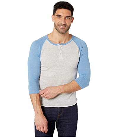 Alternative 3/4 Raglan Henley (Eco Oatmeal/Eco True Antique Blue) Men