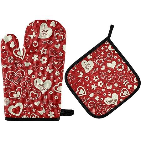 Valentines Oven Mitt Heart Shaped Oven Mitt  Handmade Pot Holder  Red Potholder  Fair Trade  Chef Gift  Retro Gift for HerGalentines
