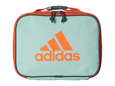 adidas Kids Foundation Lunch Bag (Little Kids/Big Kids) (Clear Mint/Hi-Res Coral/Onix) Bags