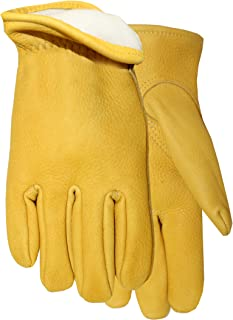 Midwest Gloves and Gear 850TH-XL-AZ-6 Buckskin with Thinsulate Lined Insulation Work Glove, X-Large, 1-Pack