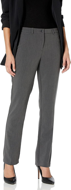 Tribal Women's Petite Flatten It Comfort Waist Soft Twill Straight Leg Pant