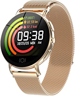 Waterproof Smart Watch Activity Tracker with All-Day Heart Rate Blood Pressure Monitor Sport Smart Watchband for Women Men Valentine's Day Birthday Gift Calorie Step GPS Tracker Fitness Health Watch