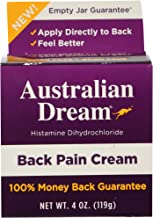 australian dream back pain cream