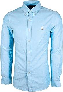 Ralph Lauren Men Solid Sport Oxford Shirt (Medium, Light...