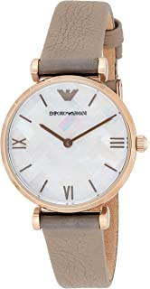 Emporio Armani Women's 'Dress' Quartz Stainless Steel Casual Watch, Color:Brown (Model: AR11111)