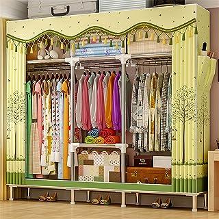 Closet Storage Closet Clothes Portable Tissu en tissu et tige de suspension rapide et facile à assembler l'organisateur de...