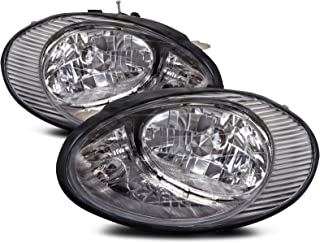 HEADLIGHTSDEPOT Chrome Housing Halogen Headlight Compatible with Ford Taurus 1996-1998 Includes Left Driver and Right Passenger Side Headlamps