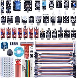 Kuman 44個キット センサー キット Raspberry Pi用 センサーモジュール スターター キット iot学習キット 電子工作 Raspberry Pi 4 B 3 2 Model B B+ A A+に適用 ラズベリーパイ K47