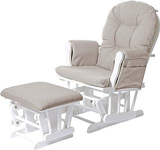 Mendler Fotel relaksacyjny HWC-C76, krzesło bujane fotel z