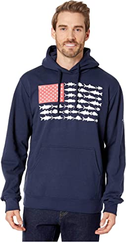 Collegiate Navy/White Fish Flag