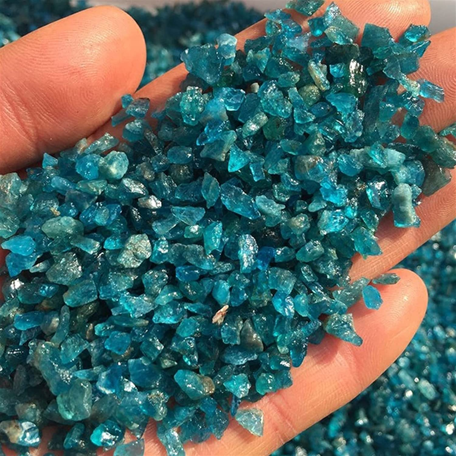 YSJJAXR Natural Crystal Stone 50g Lot Pack Year-end annual Excellent account 100g Blue Apa
