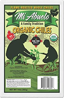 Hatch Green Chile by Mi Abuelo Organic Chile, Non GMO Seasoning for Stew, Enchilada Sauce, Or Adding Spice To Any Meal, Flame Roasted Chile (Hot- Grown in Hatch, NM, 14lb)