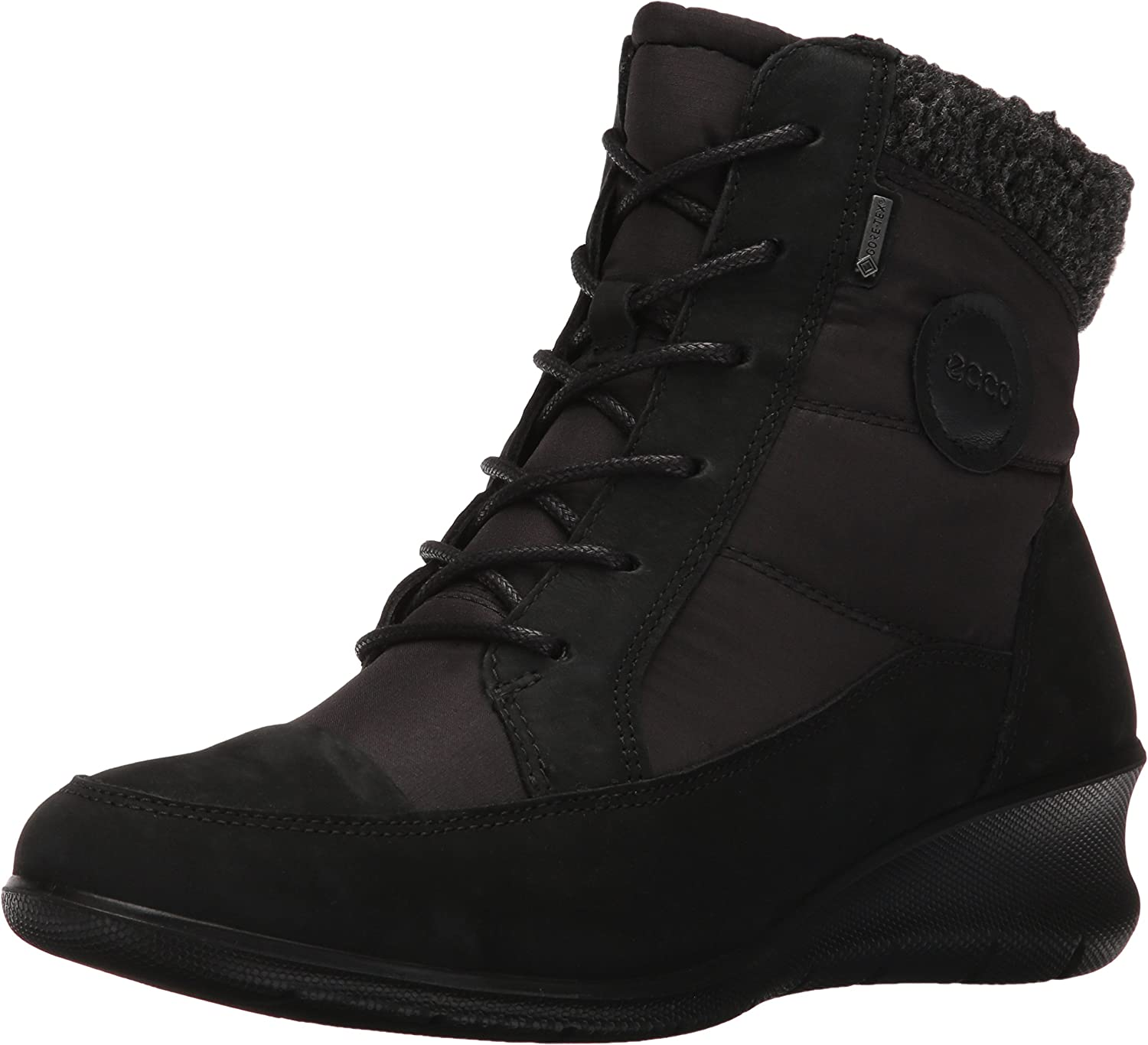 Ecco Womens Babett Wedge Lace Boot Boot