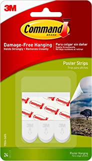 Best Command Poster Hanging Strips, Small, White, 24-Strips (17024-24ES) Review