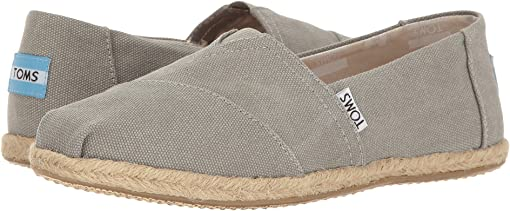 Drizzle Grey Washed Canvas Rope Sole