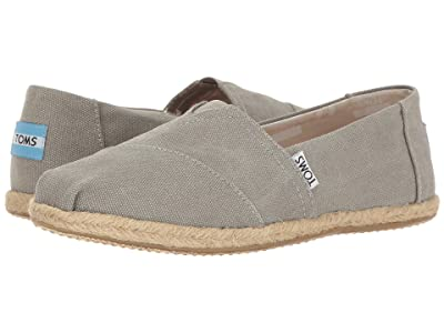 TOMS Alpargata on Rope (Drizzle Grey Washed Canvas Rope Sole) Women